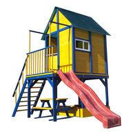 Домик с горкой Папин домик детская площадка